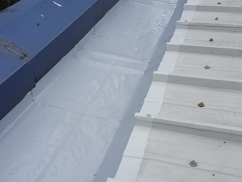 Cut edge corrosion - Finished gutter looking like new