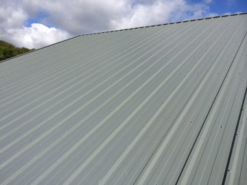 Composite roof panel side view