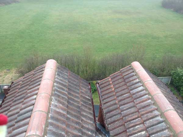 New roof tiles replaced
